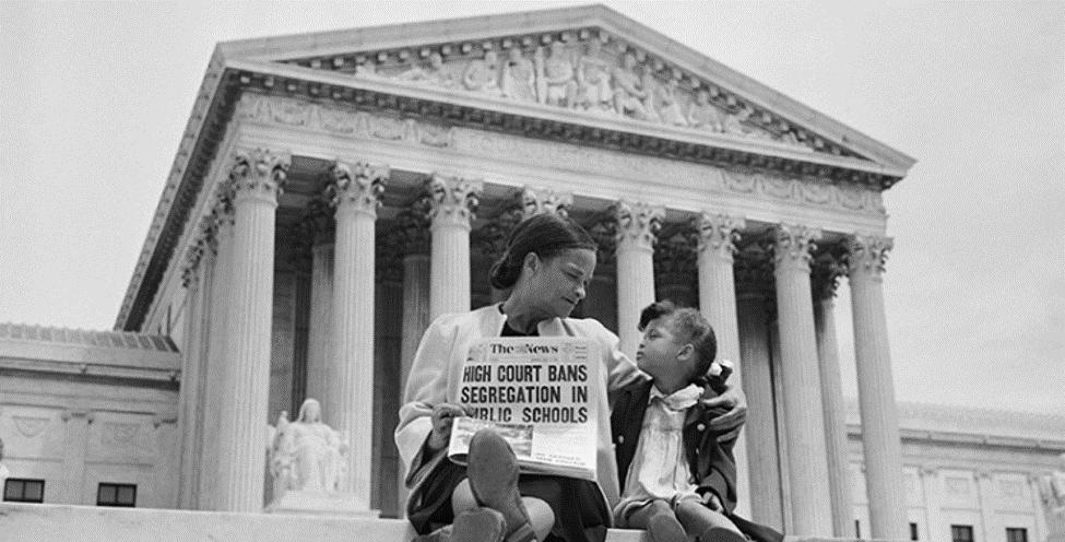 brown v. board of education on supreme court steps
