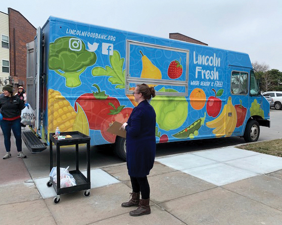 Onsite food pantries help eliminate access to food and provide residents with supplemental food and personal hygiene items each month