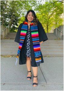 Photo of Crystal in Graduation Attire