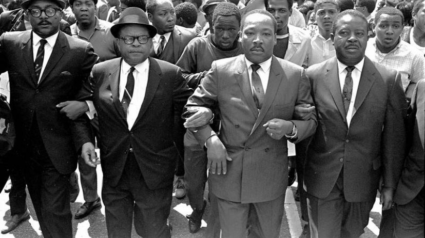 Dr. Martin Luther King marching