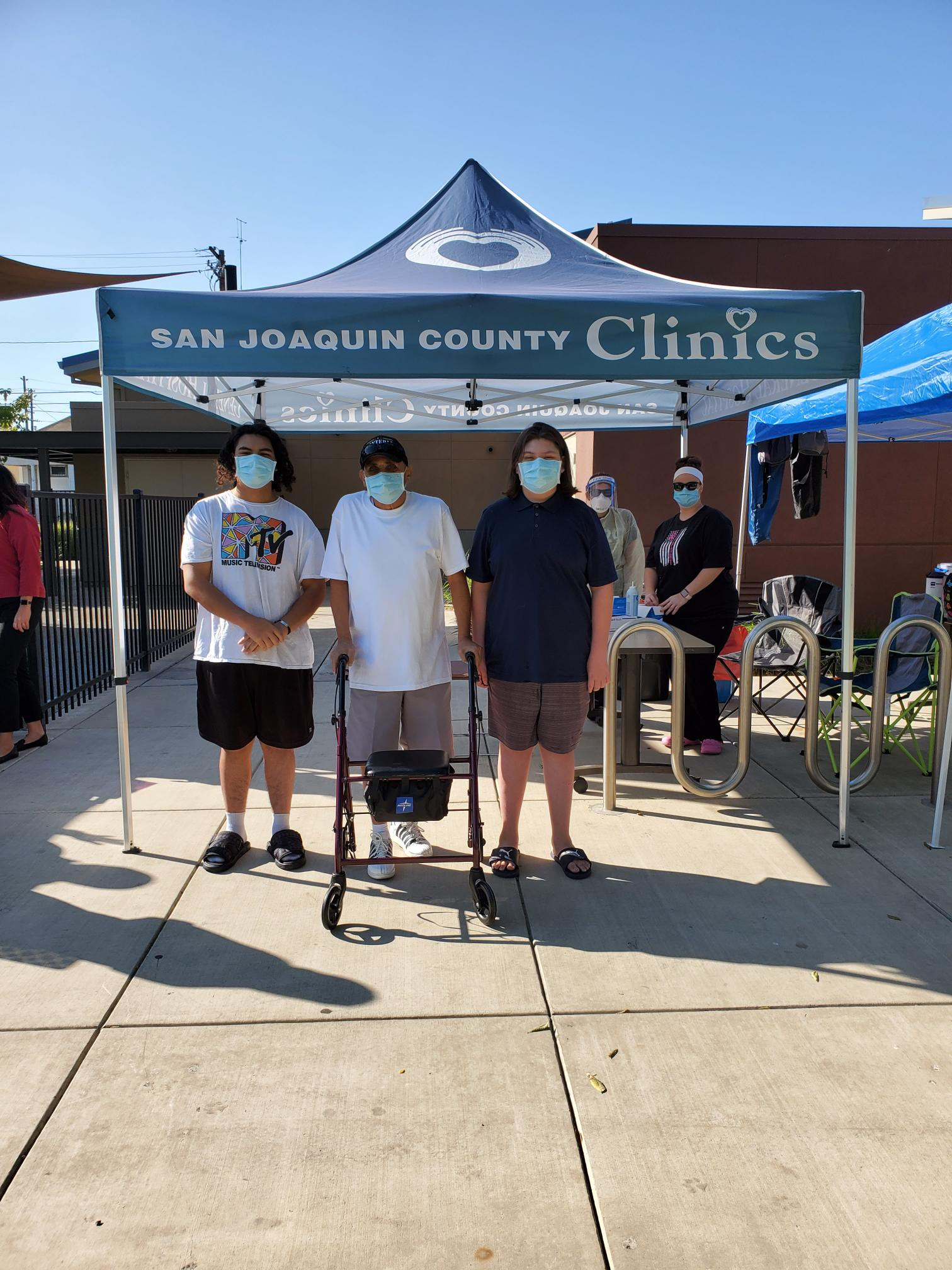 gleason park testing clinic with staff