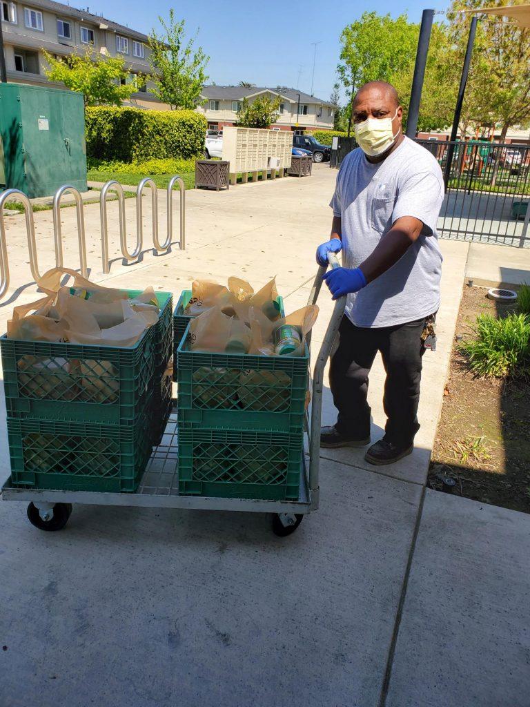 onsite staff delivering food