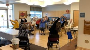 Chair Yoga class at Countryside Senior Apartments