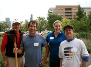 mercy housing volunteers landscaping