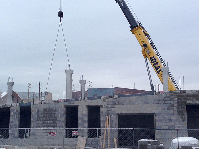Construction of Greenwich Park Apartments in Milwaukee