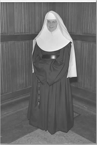 Sister Patsy in her habit, Mercy Housing