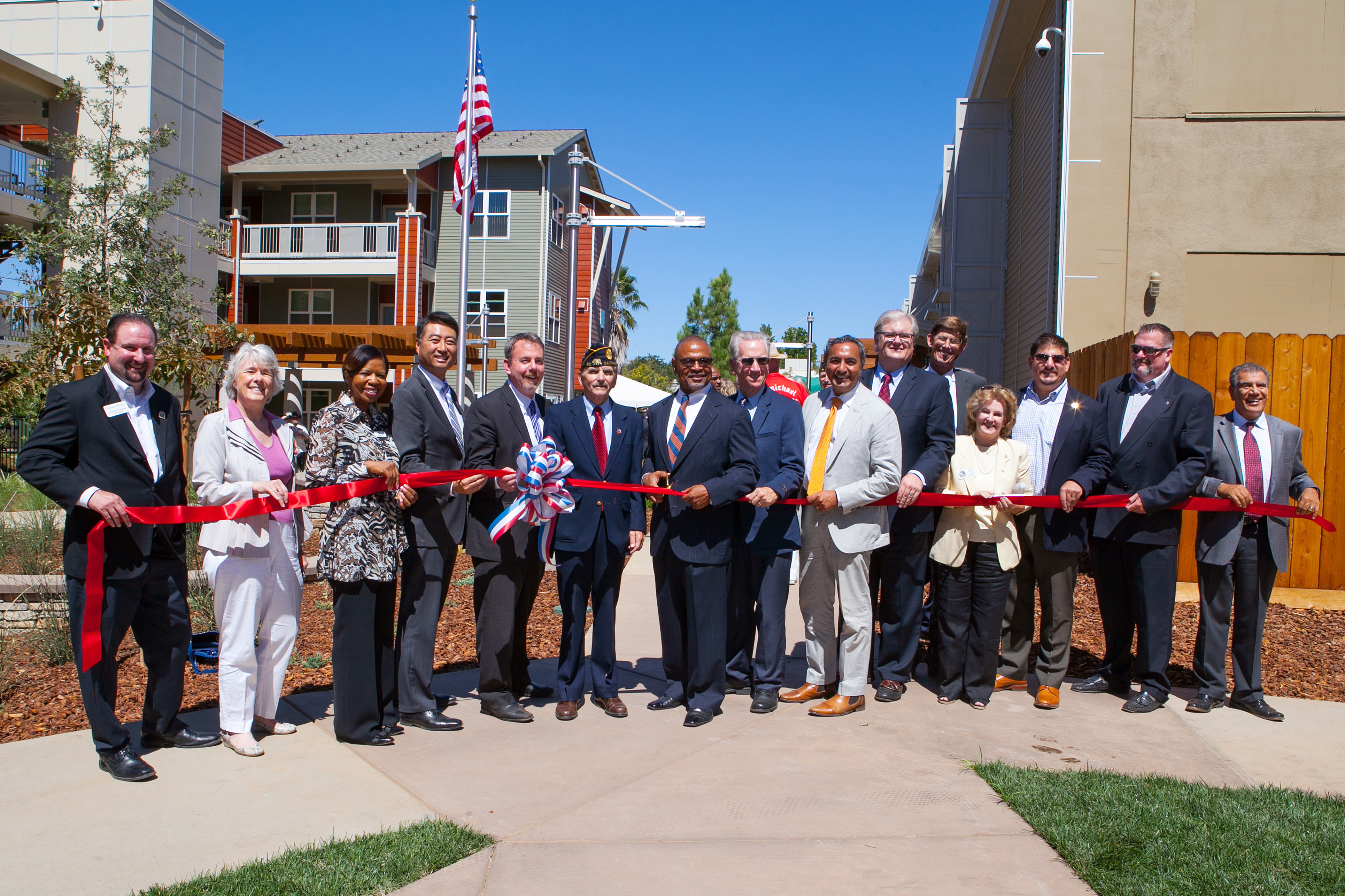 Mercy Housing Partners, ribbon cutting, Mather Veterans Village