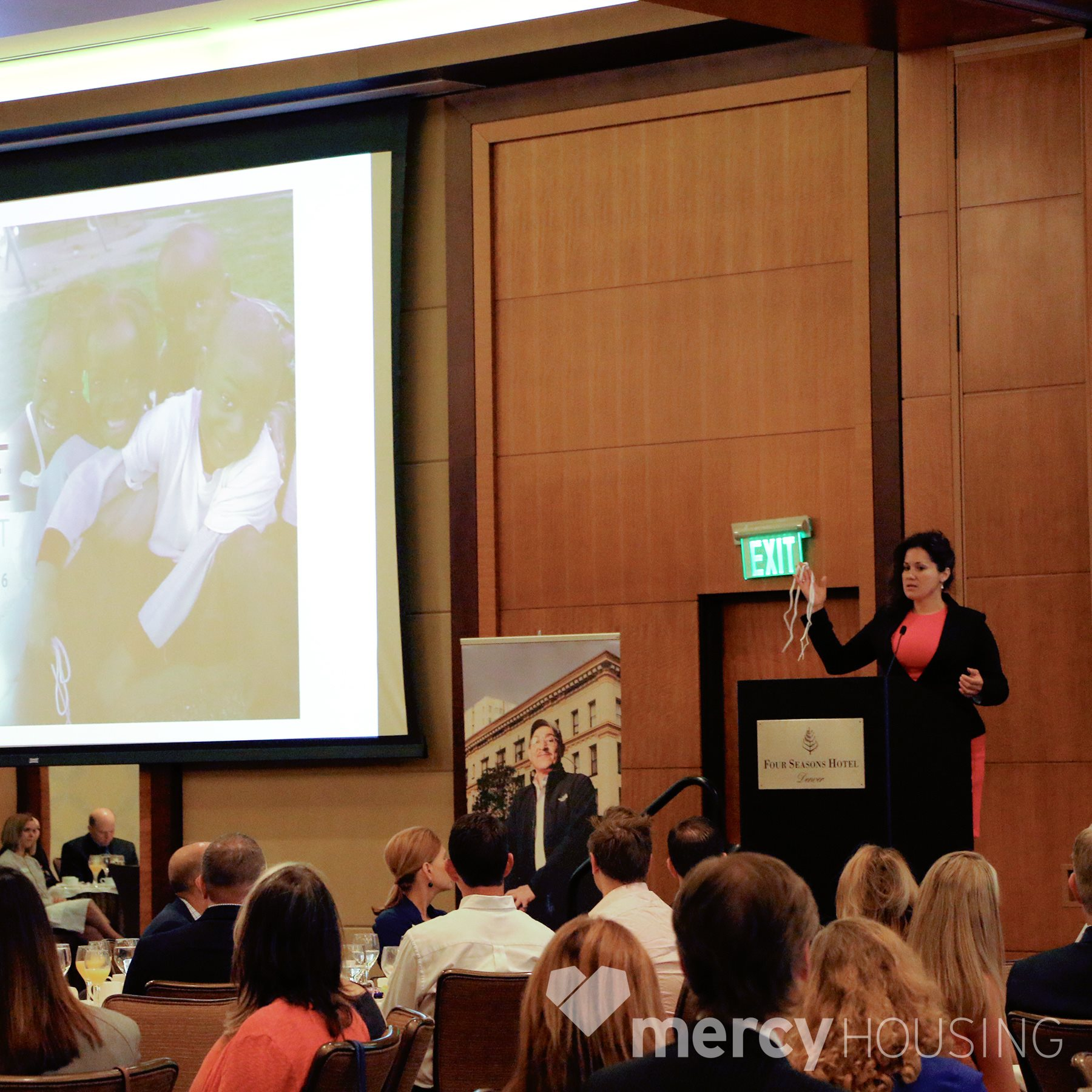 Rocio shared her story during a recent Mercy Housing event