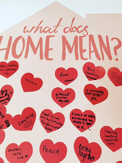 """""""What does home mean"""" community board at HHAD 2017."""