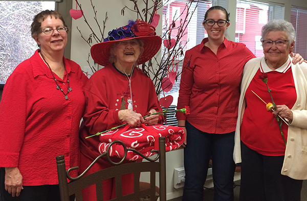The heart tree created by Bellingham senior residents.