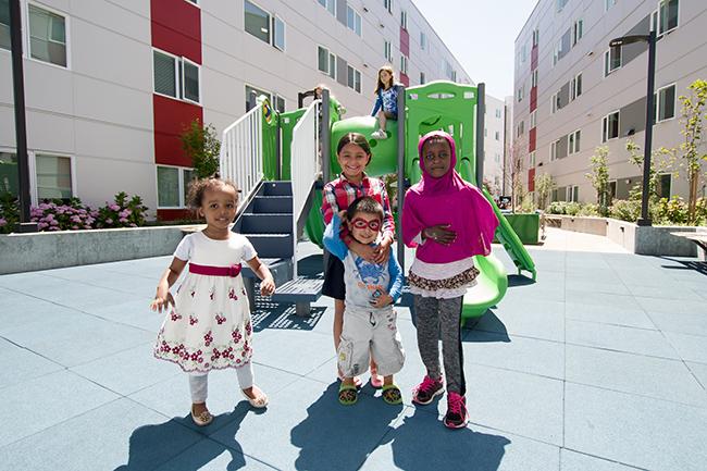 Mercy Othello Plaza Grand Opening Kids at Playground