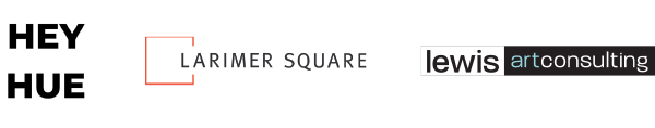 Artist level sponsors: Hey Hue, Lewis art consulting, Larimer Square