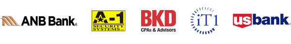 Collector level sponsors: ANB Bank, A-1 Security Systems, BKD CPA's & Advisors, iT1, US Bank