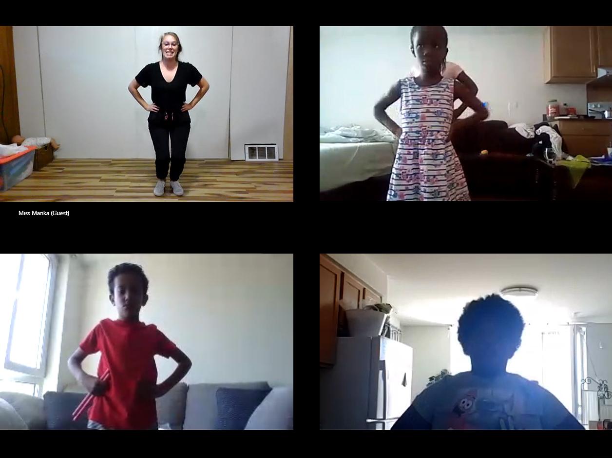 Gardner House of kids at virtual dance class