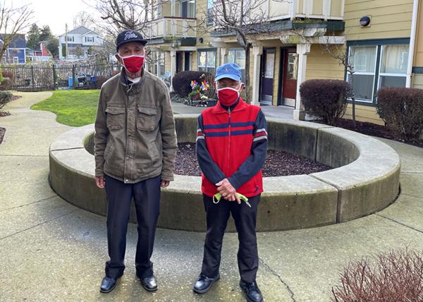 Residents on Go Red Day Hillside Gardens