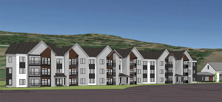 Rendering of Sunshine Park Apartments