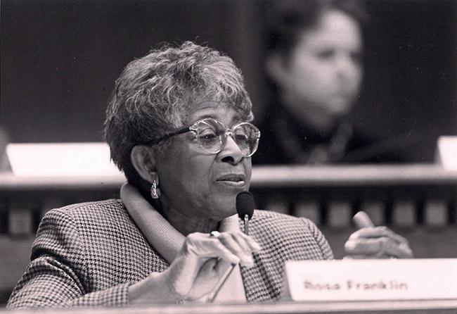 Rosa Franklin in the legislature